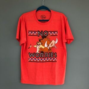 Timon & Pumba No Worries Tee size large AS IS